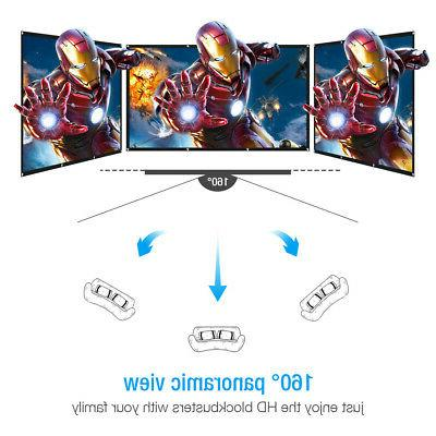 """120"""" 16:9 Projection Foldable Home Movie Cinema"""