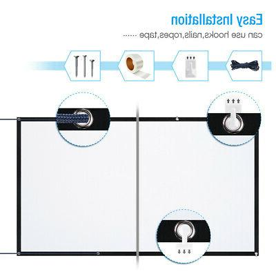 """120"""" HD Projection Projector Screen Home Theater"""