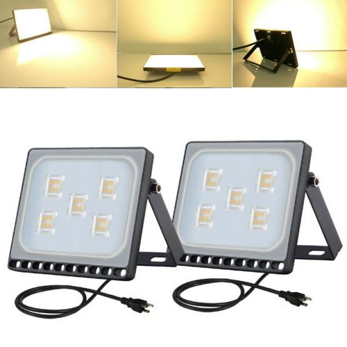 2x 30w us plug led flood light