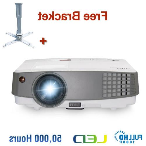 EUG Mini Projector HD 4000lms Portable LED Home Theater PS4