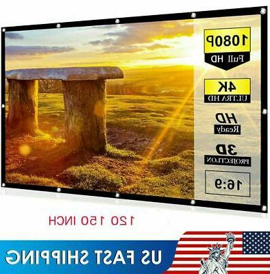 """60""""/120""""/150"""" Portable Wall Theater Outdoor"""