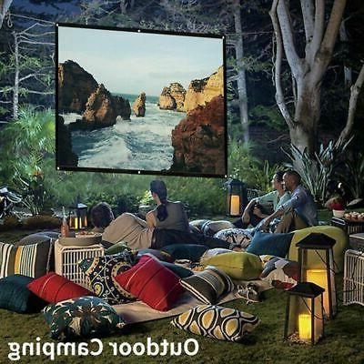 """60""""/120""""/150"""" Foldable Projector Screen Theater Outdoor"""