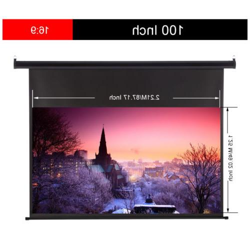 "60""-150"" 16:9/4:3 3D HD Electric Screen"