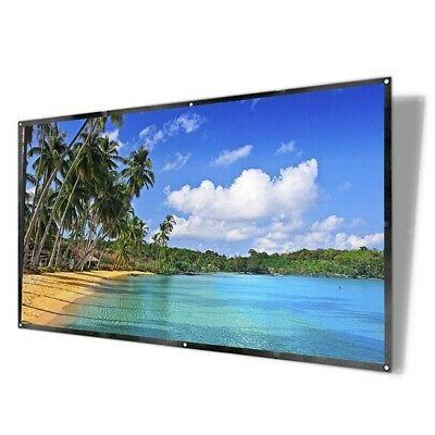 """120"""" 16:9 Portable Foldable Projector Screen HD Home Theater"""