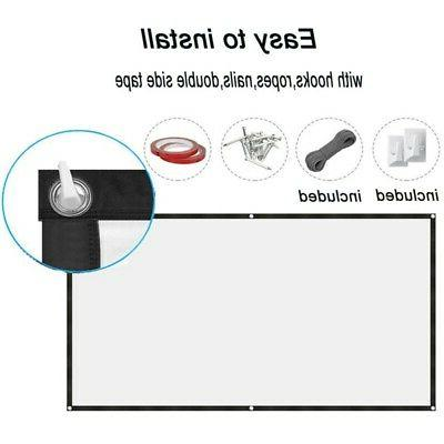 Foldable Projector Screen 16:9 HD Portable Outdoor Home Cine