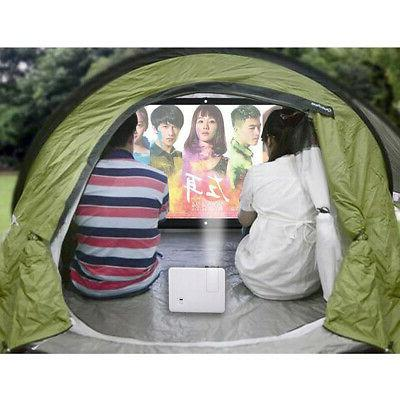 100'' Portable Projector Foldable HD Wall Home