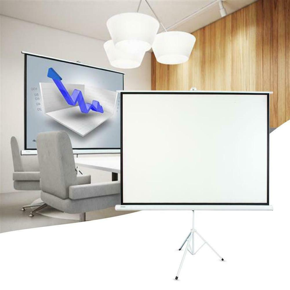 School Home 100 Inch HD Portable Pull Bracket Projector Scre