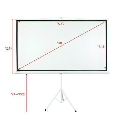 """84"""" Tripod Portable Projection 16:9 Stand"""