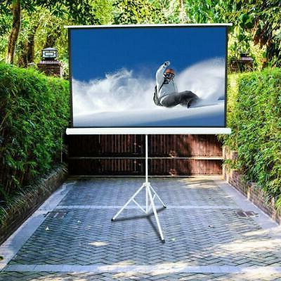 """84"""" 16:9 Projector Screen Portable with Tripod"""