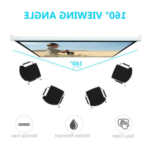 """100"""" Pull Down Projector Screen Meeting Theater HD"""