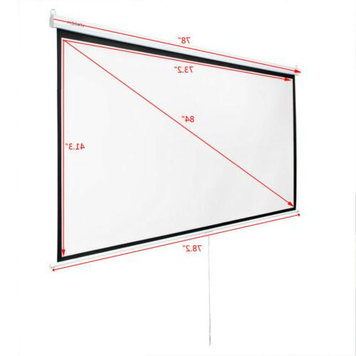 Lightweight Projector Screen Manual Pull Theater Projection Screen