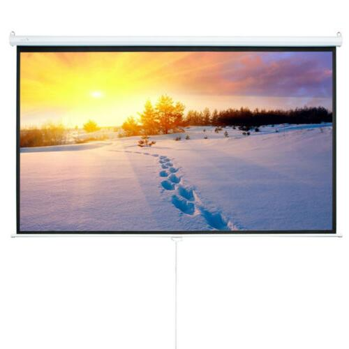 Leadzm Pull Projector Screen Projection 16:9 White
