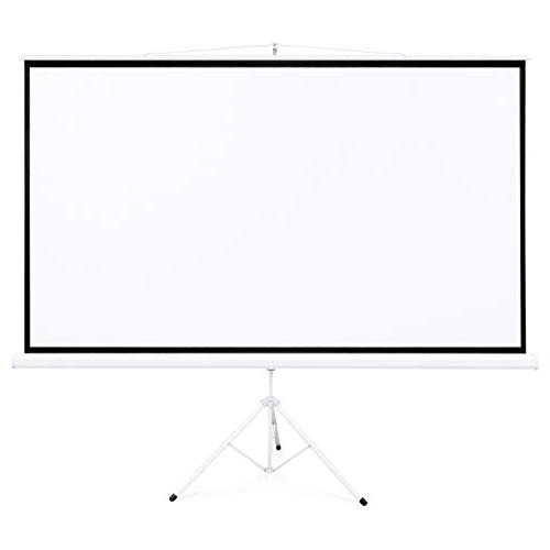 Best Choice Products Portable Projection Screen w/ 87x49in Stand, 1.3 Gain