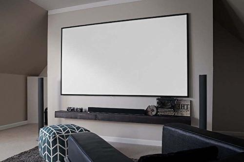 Elite 150-inch 16:9, 8K 4K Ultra HD Theater FREE Borderless Projector Screen, CineWhite Matte White Projection Screen, AR150WH2