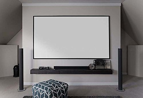 Elite Screens 150-inch 8K 4K FREE Borderless Projector CineWhite White Front Projection Screen,