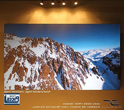 Elite Screens 150-inch / Theater FREE Projector CineWhite White Projection Screen,