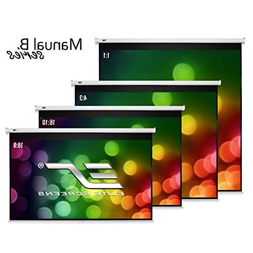 Elite Screens Manual 100-INCH 16:10, Down Screen / 8K Ultra 3D Ready with Retract Mechanism, 2-YEAR M100X