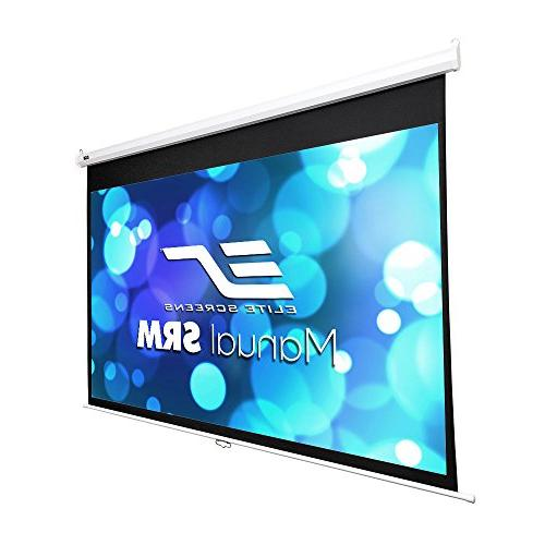 Elite Screens Manual SRM Series, 120-Inch 16:9, Slow Retract