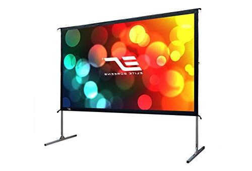 "Elite Screens 2, inch Projector Screen with 16:9, 4K HD Fast Folding Portable 120"" Foldable Snap"