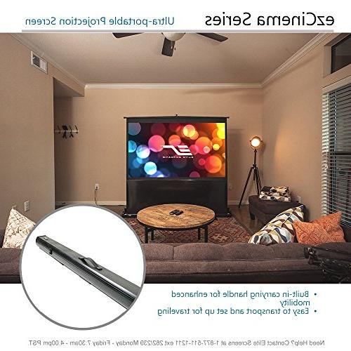 Elite ezCinema 135-INCH Manual Pull Up Projector Home Theater 4K Ultra Ready, 2-YEAR