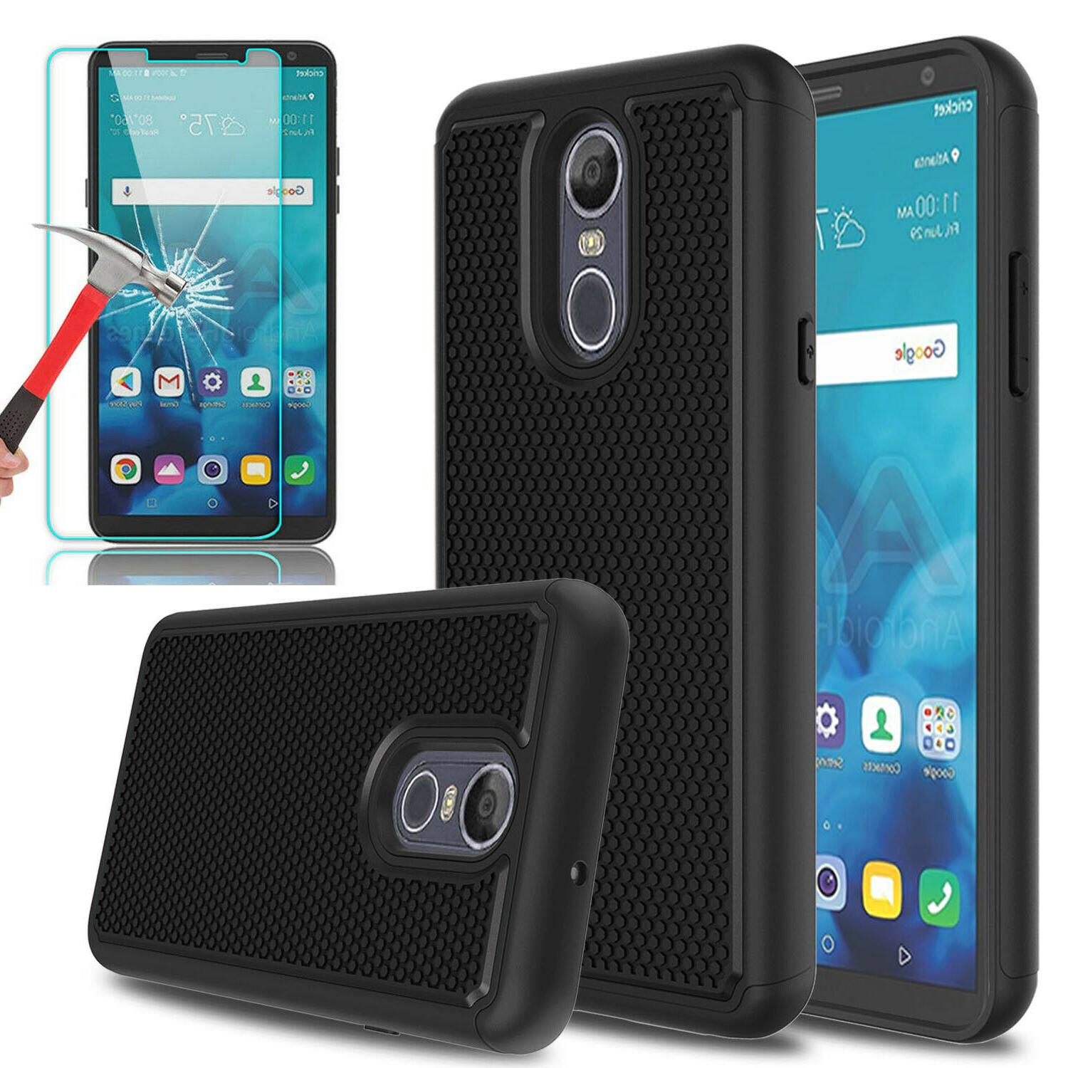 For LG 4 Shockproof Phone Case+Glass