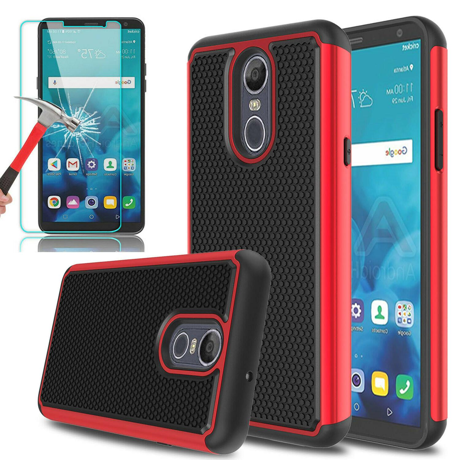 For LG 4 Shockproof Armor Phone Case+Glass Screen