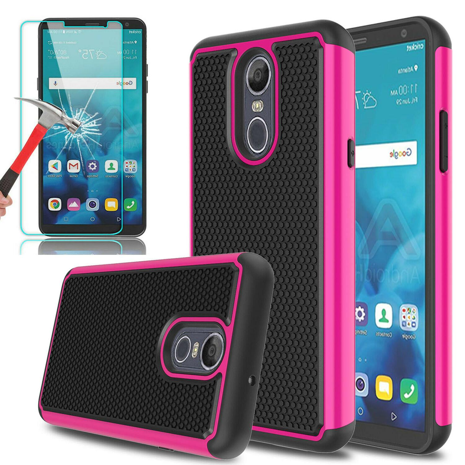 For Stylo 5/Stylo 4 Phone Case+Glass