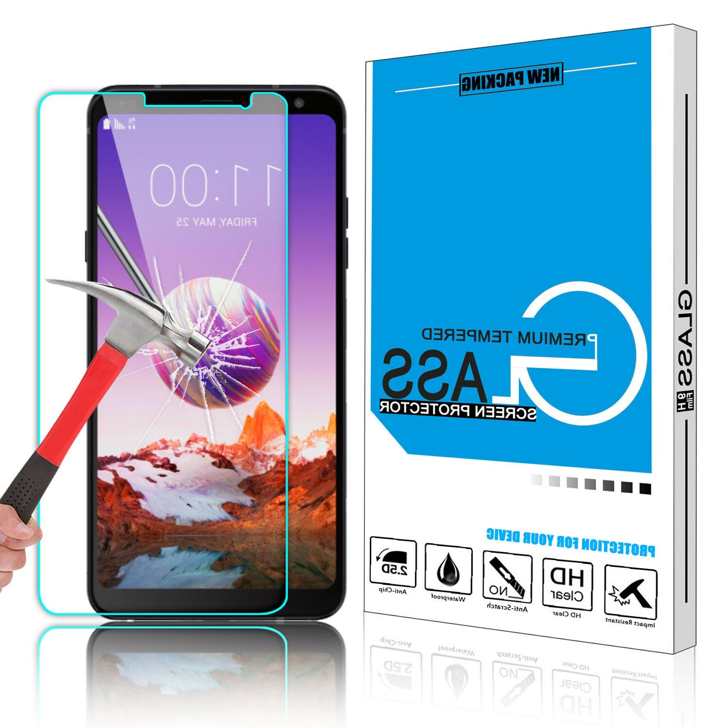 For LG Stylo 5/Stylo 4 Hybrid Phone Case+Glass Protector