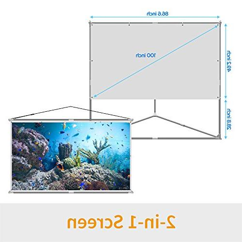 JaeilPLM 2-in-1 Projector Outdoor Compatible or Hanging Projection for Gaming,