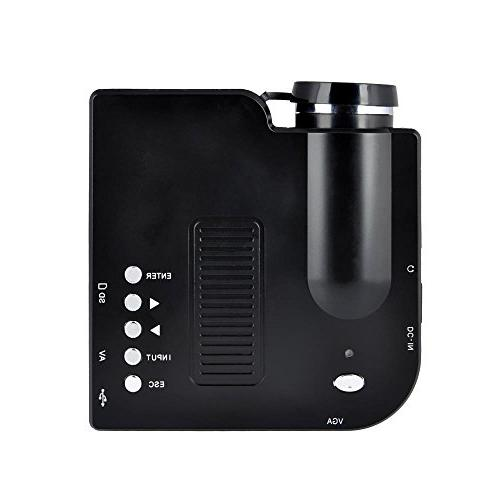 Pyle HD Mini Portable Pocket & Home Projector Built-in Speaker, LCD+LED Lamp, Multimedia, VGA Inputs for PC & Laptop