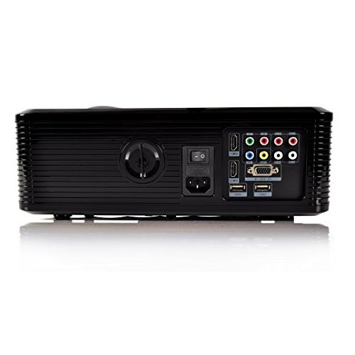 Pyle Updated Projector LED Home Theater with Built-in 2 & Keystone for TV PC Computer & -