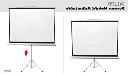 Upgraded Pyle Screen with Portable Manual, Mobile Movie Screen, Home Party Office Quick Assembly