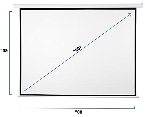 VIVO Electric Projector Screen, 4:3 Projection Mount x 60""