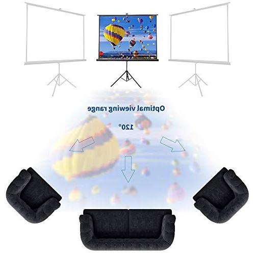 "VIVO 100"" Outdoor Screen, 100 Inch 4:3 Pull Up Foldable"