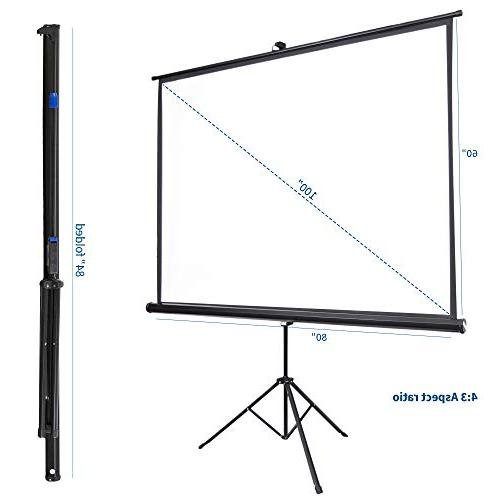 "VIVO 100"" Outdoor Projector Inch Projection 4:3 Projection Pull Foldable"