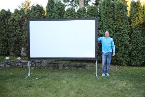 Visual indoor movie theater screen.