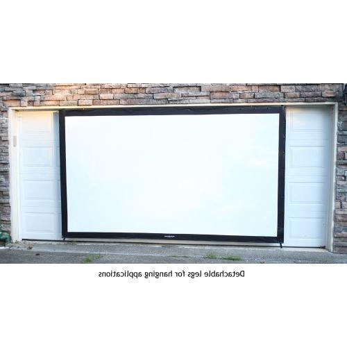 """Visual Projectoscreen144HD indoor or outdoor theater projection Perfect for Fast-fold projection screen, 16:9 projector 4"""" black border"""