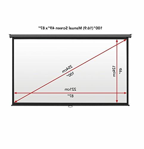 """VonHaus 100 Inch Screen Down - 100"""" Indoor - Aspect Projection Screen For"""