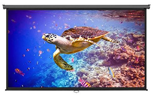 """VonHaus 100 Inch Projector Screen Down - 100"""" Indoor Projection For HDTV/Sport/Movie/Gaming"""