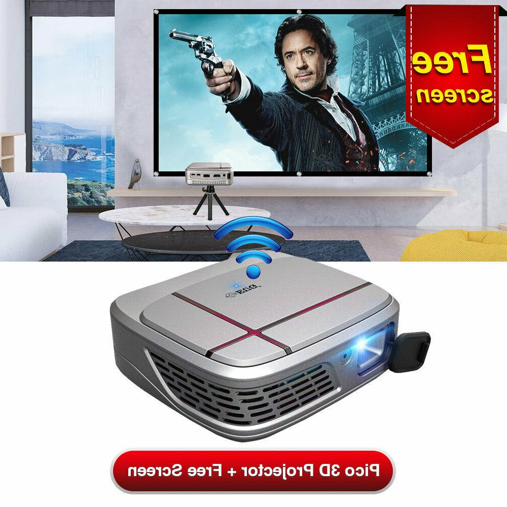 dlp 3d projector 1080p portable airplay miracast