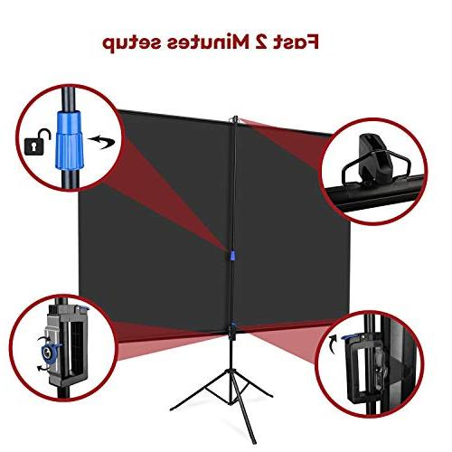 The First Screen with Stand OWLENZ Indoor and Movie Screen Inch Diagonal 4:3 Wrinkle-Free Design