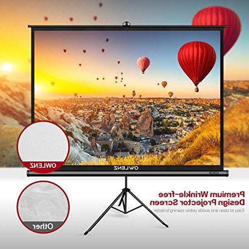 The with OWLENZ Outdoor Movie 100 Inch Diagonal 4:3 with Wrinkle-Free Design