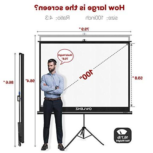 The First with Stand Green OWLENZ Indoor Movie Diagonal 4:3 Wrinkle-Free Design
