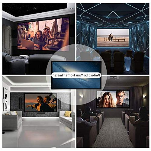 ShowMaven inch Fixed Frame Projector Diagonal 16:9, 4K Ultra Projector for Theater Office