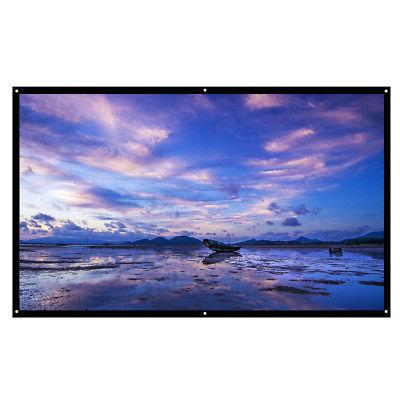 100'' 16:9 Portable Foldable Projector Screen HD Home Theate