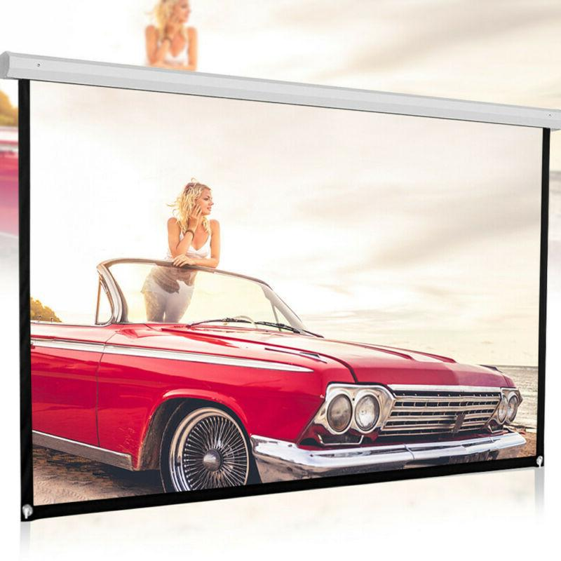 100 inch HD Projector Screen 16:9 Home Cinema Theater Projec