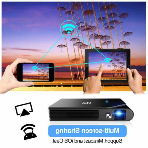 HD WiFi Projector Screen Mirror Meeting 3600lms US