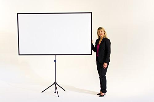 GO-80: 2-in-1 Projection Screen | 80 Mounts Tripod Wall 16:9 | 9 lbs 2 Includes Bag For Home Entertainment HD