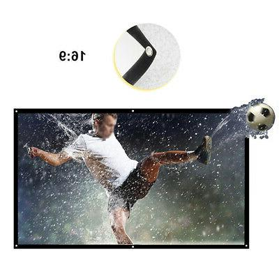 100'' Portable Projector Foldable 3D Wall Home Theater