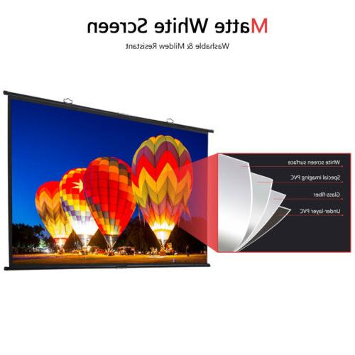 """100"""" HD Portable Hanging Projector Fast Install"""
